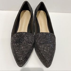 Kelly & Katie black sparkly pointed toe flats